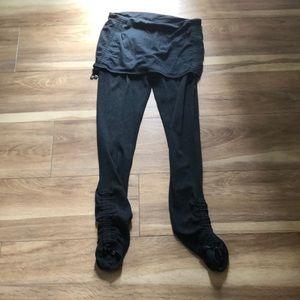 Lulu organic cotton ruched leggings 6